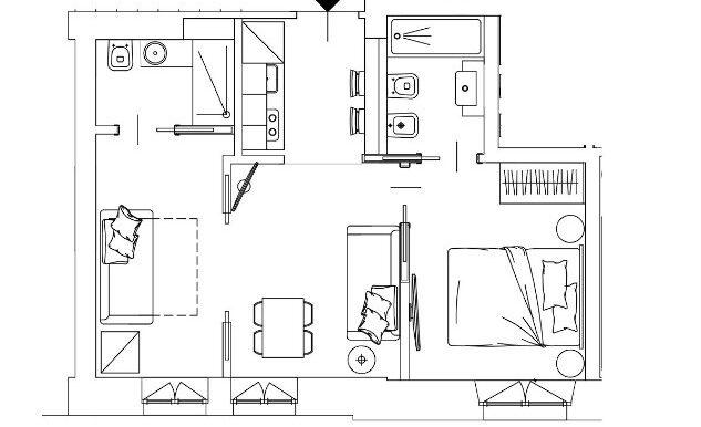 planimetria via schiapparelli 101 2loc. 50 mq